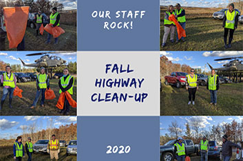 Our Staff Rock! Fall Highway Cleanup 2020
