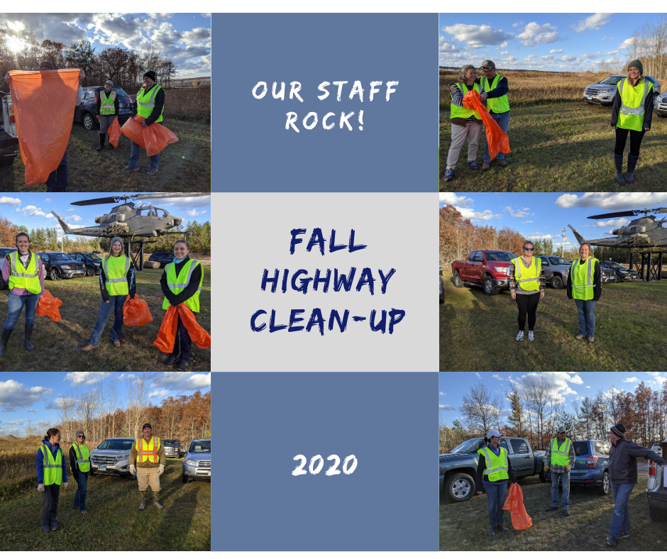 Fall Highway Clean up group collage