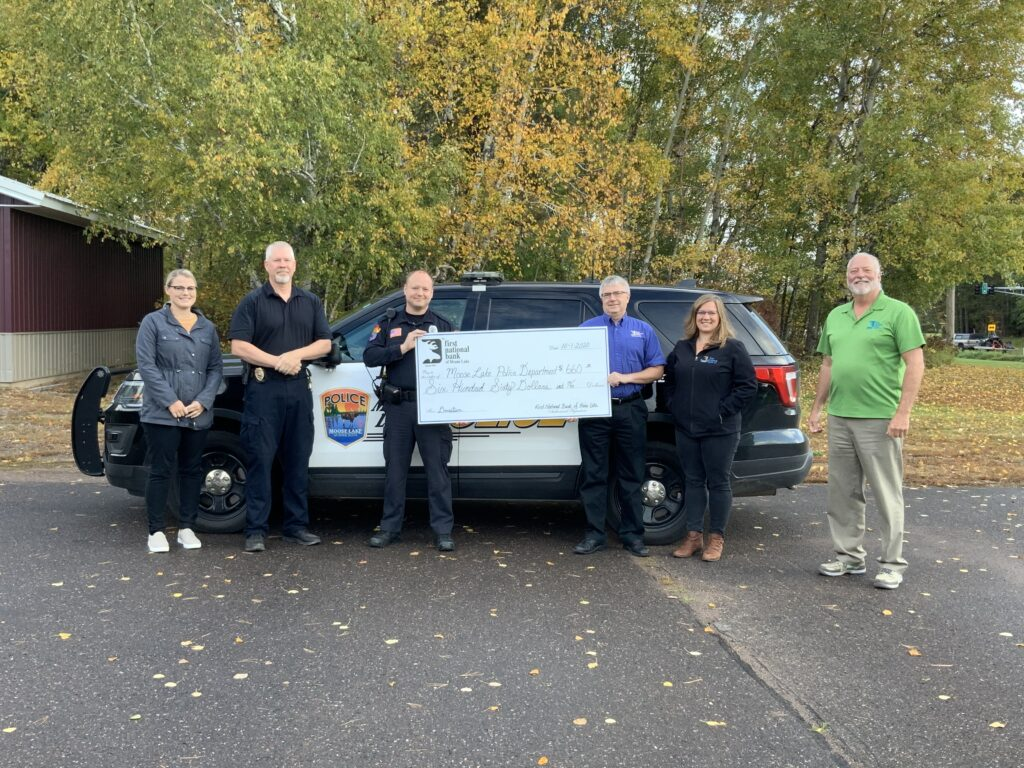 donation check to Moose Lake Police Department
