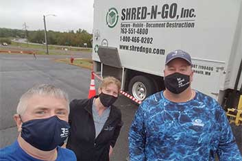 Rick Connie and Erik at Shred-n-Go event