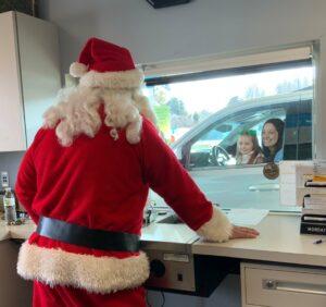 Santa at drive up