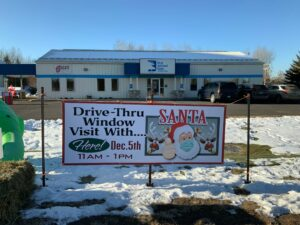 Branch Office and Santa Visit sign