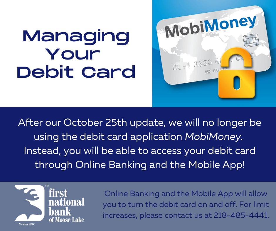 Managing Your Debit Card After the Update